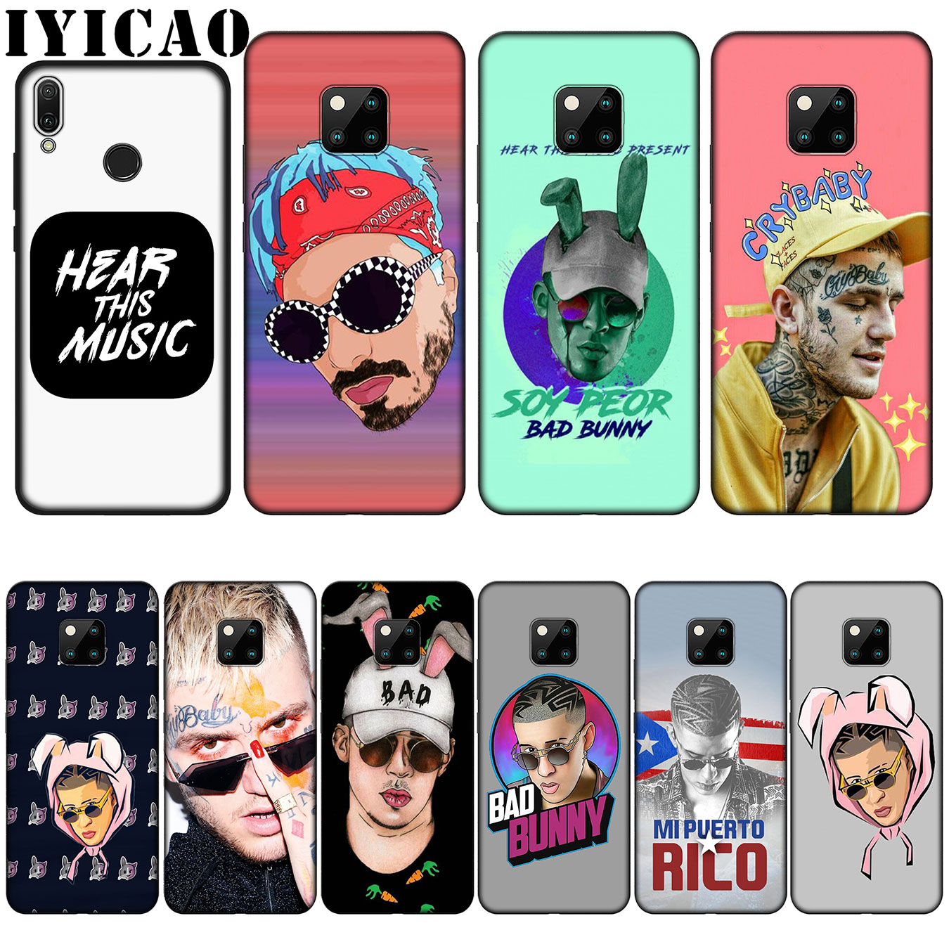 Phone Bags & Cases Have An Inquiring Mind Iyicao Bad Bunny Maluma Lil Peep Leading Silicone Soft Case For Huawei Nova 3 3i 2i For Huawei Mate 20 10 Pro Lite