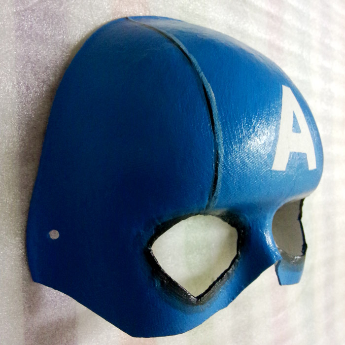 New Quality Handmade DIY Mask Halloween Captain America Mask Cosplay  Costume Paper Mache Pulp Mask-in Party Masks from Home   Garden on  Aliexpress.com ... 6d79bba47cd6