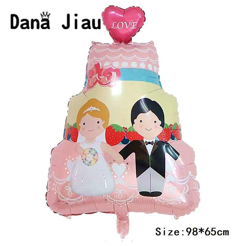 dana jiau MR& MRS Happy ever after wedding Balloon LOVE RING Foil ball Valentine's Day decoration lady white dress Helium Ballon