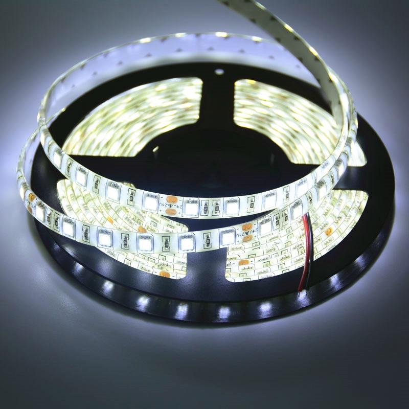 SPLEVISI Super Bright  WarmWhite White 5m DC 24V LED Strip 5050 Flexible Light Stripe 60 LED/MLed  RGB Tape Luces Ribbon