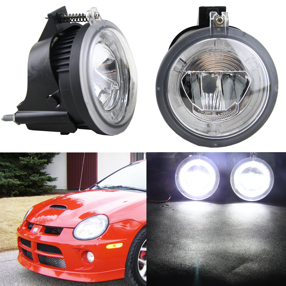 2pcs Pair 12v 24v Front Per Led Daylight Fog Driving Lights For Dodge Neon 2003 2005 Waterproof Drl Daytime Running Light In Car Embly From