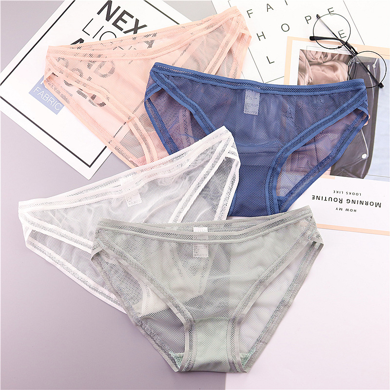 SP&CITY Summer Transparent Underwear Women Sexy Lace   Panties   Sex Thongs String Fashion Seamless Briefs Hollow Out   Panties