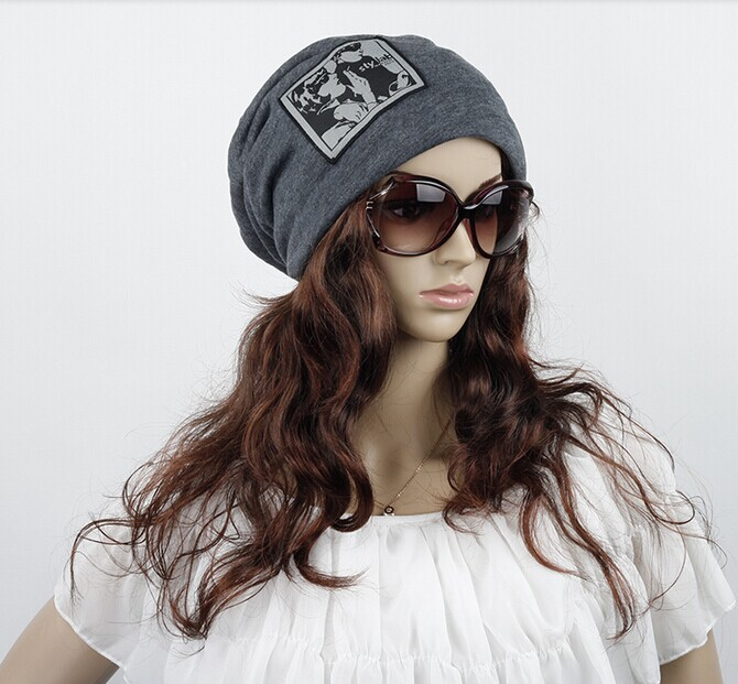 1 pcs 2014 autumn/winter warm knitted cap Men's and women's cotton turban hat 4 colors free shipping