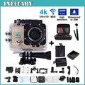 Free shiping! 4 K ultra WI-FI Câmera de Ação de 2.0 Polegada 16MP 1080 P À Prova D' Água 30 m 170 HD lente grande-angular esporte Câmera sem gopro