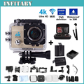 Free shiping! 4K ultra WIFI Action Camera 2.0 Inch 16MP 1080P Waterproof 30m 170 HD wide-angle lens Sport Camera no gopro