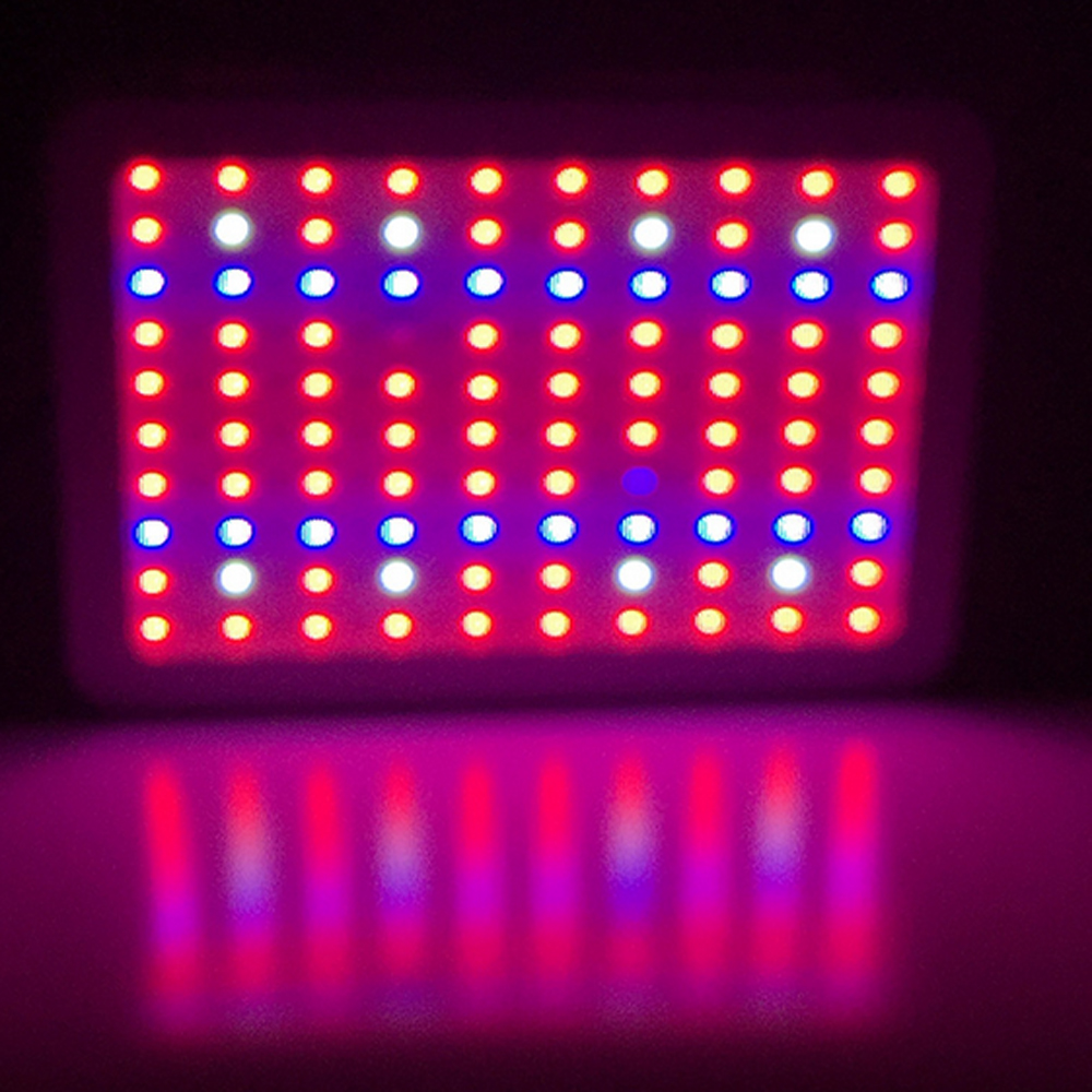 300W LED Grow Light Full Spectrum 3W Chip LED Plant Grow Light for Indoor Plants Veg and Flowering 2pcs 30mil 10w 660nm plant grow lights led chip dc6 7v 1000ma excellent quality light source for plant grow faster and batter