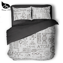 Dream NS GEEK design mathematics chemistry and chemical equations children's room bedding set Atom Quilt cover pillowcase