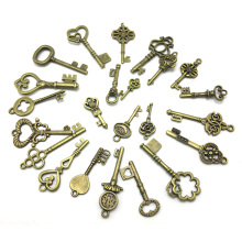 40pcs Retro Antique Bronze Key Different Style Creative Deco