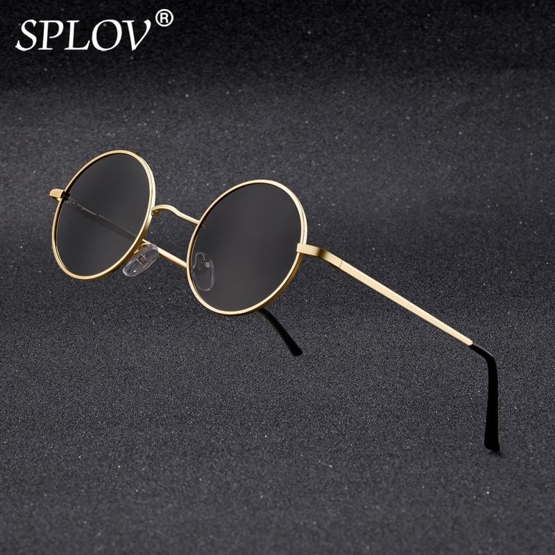 Brand Designer Polarized Round Sunglasses Classic Small Vintage Retro John Lennon Glasses Women Metal Eyewear