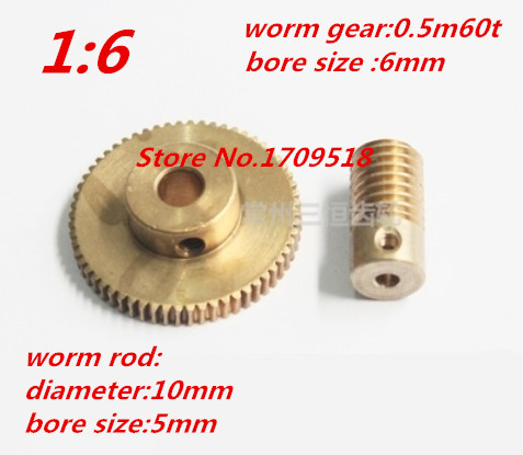 1 sets 0.5M60t  60 teeth worm gear reduction ratio:1:60 worm rod diameter 10mm, bore 5mm oil pump oiler kit with worm gear springchainsaw 034 036 ms360 worm