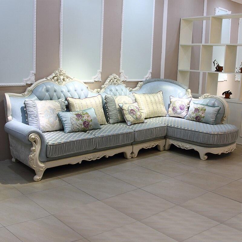 1 seatlounge 3seat european blue sofa soft sofa cover ce