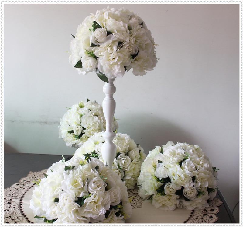 unidslote plomo carretera boda artificial bola de la flor flores de mesa de boda pieza central de la