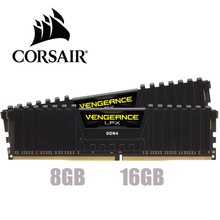 CORSAIR Vengeance Módulo Vengeance LPX, 8GB, 16GB, 32GB, DDR4, PC4, 2400Mhz, 3000Mhz, 3200Mhz, 2666Mhz, 3600Mhz, memoria RAM de escritorio para PC, 8G, 16G, DIMM