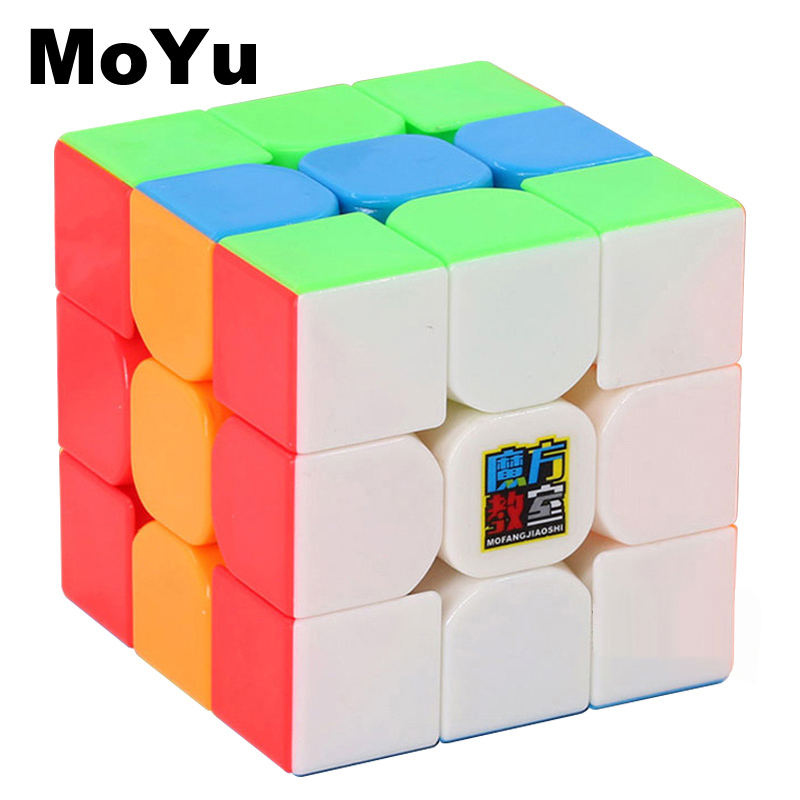 MOYU Classic Toys Cube 3x3x3 Solid Color Block Puzzle Speed Magic Cube Learning&Educational Puzzle Cubo Magico Kids Toys MF3SET