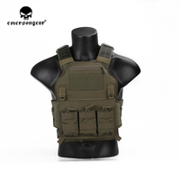 EMERSON Tactical Vest 420 Plate Carrier Molle Body Armor Adjustable Airsoft Shooting Military CS Protective Gear Ranger Green