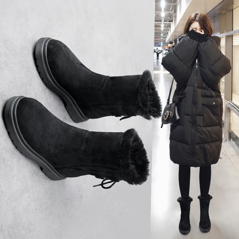 2 2018 Sauvage Femelle À 1 Nouveau Plat Plus De Fond Chaud Velours Court Bottes Coton Chaussures Le Neige Tube Étudiants nOPXZ0N8wk