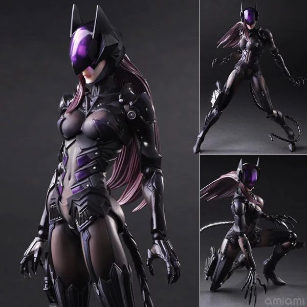 Vogue Square Enix Variant Play Arts Kai NO.2 Catwoman DC Comics Super Hero Batman Series Film Action Figure Toys