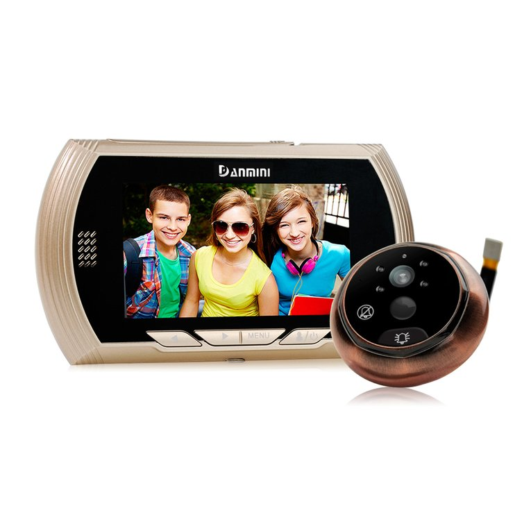 4.3 Inch TFT Monitor Eye Video Record Intercom Peephole Ring Doorbell With Camera HD Night Vision Door Phone Home Security Cam jeatone 4 inch color screen display monitor picture and video record video door phone intercom hd doorbell camera night vision