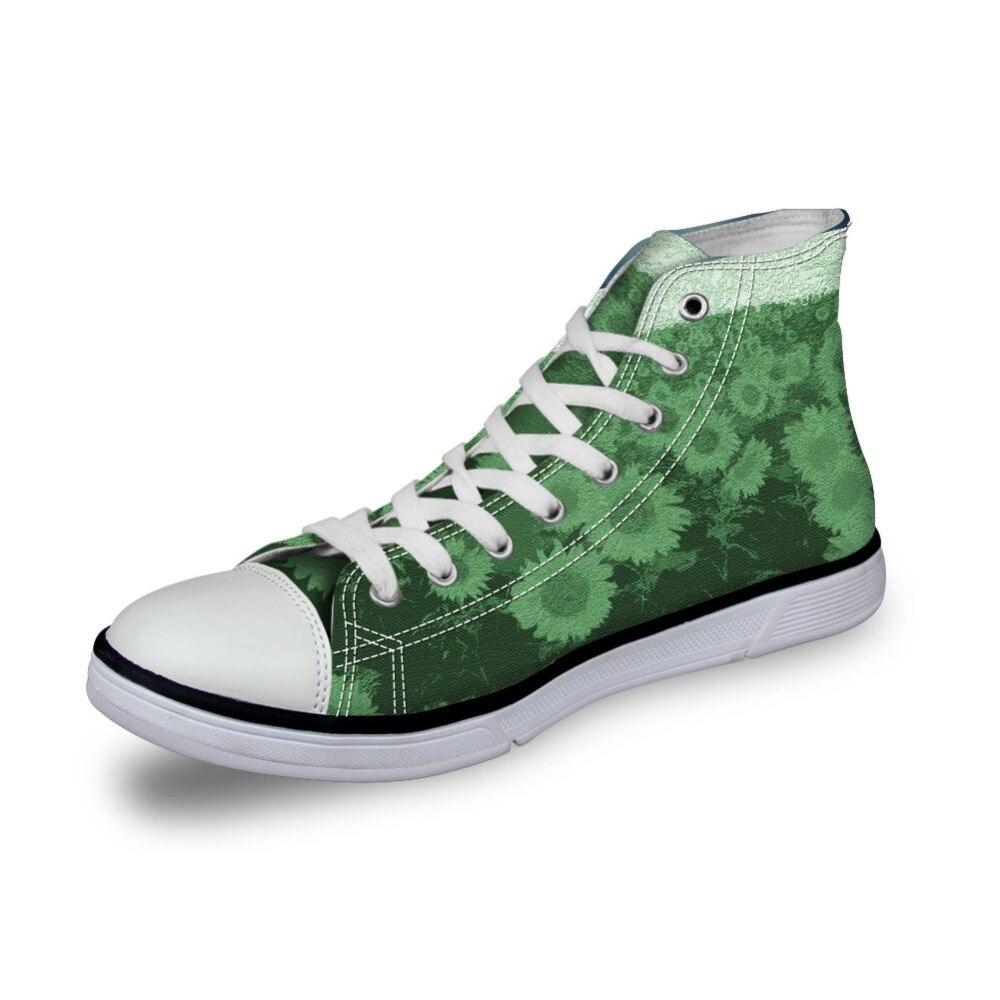 Filles Cc1165ak Caoutchouc De Sneaker Lace Noisydesings Classique En Haute Air Chaussures Toile Vulcanity akcustomized Impression cc1169ak cc1166ak Up Femmes Plein Floral Lumière Tournesol H55q84