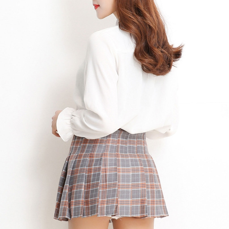 5a3262b5bd9140 Women Girl Red &Grey Shirt High Waist Pleated Mini Skirt A line School  Uniform -in Skirts from Women's Clothing on Aliexpress.com | Alibaba Group