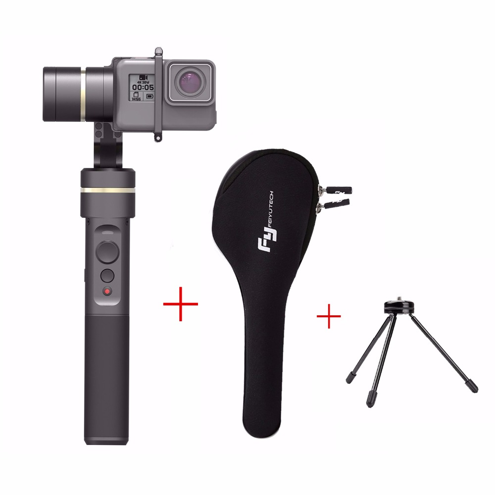 Feiyu G5 V2 Updated 3-Axis Splash-Proof Handheld Gimbal for GoPro HERO 5 4 3 Xiaomi yi 4k SJ AEE Action Cameras with mini tripod туалетная бумага анекдоты ч 8 мини 815605