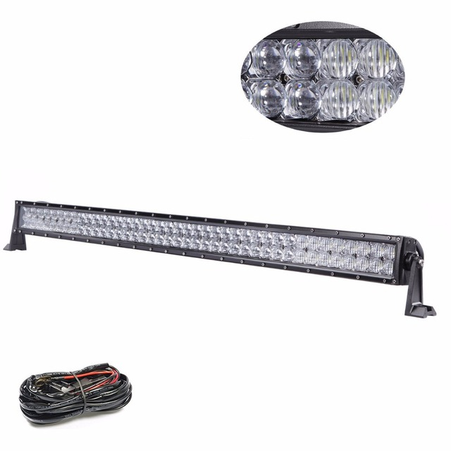 KINDAFLY 5D IP68 42 Inch 400W Curved Off Road LED Light Bar with Wiring Harness Kit_640x640 kindafly 5d ip68 42\