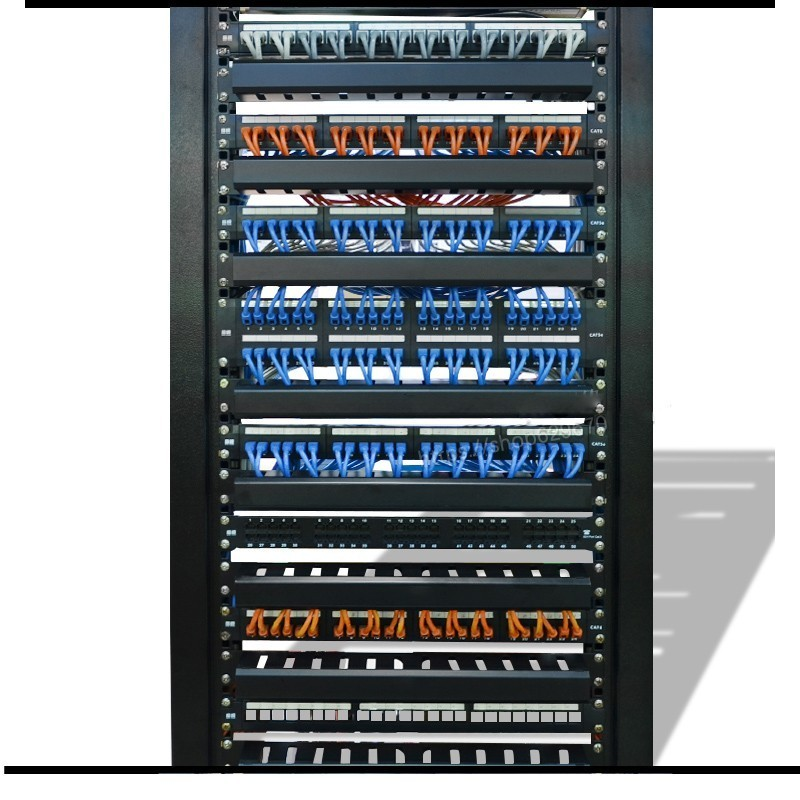 19 inch 1u thickening steel rack cabinets network cable management cable organizer 12 management ring hht lxb suitable for amp