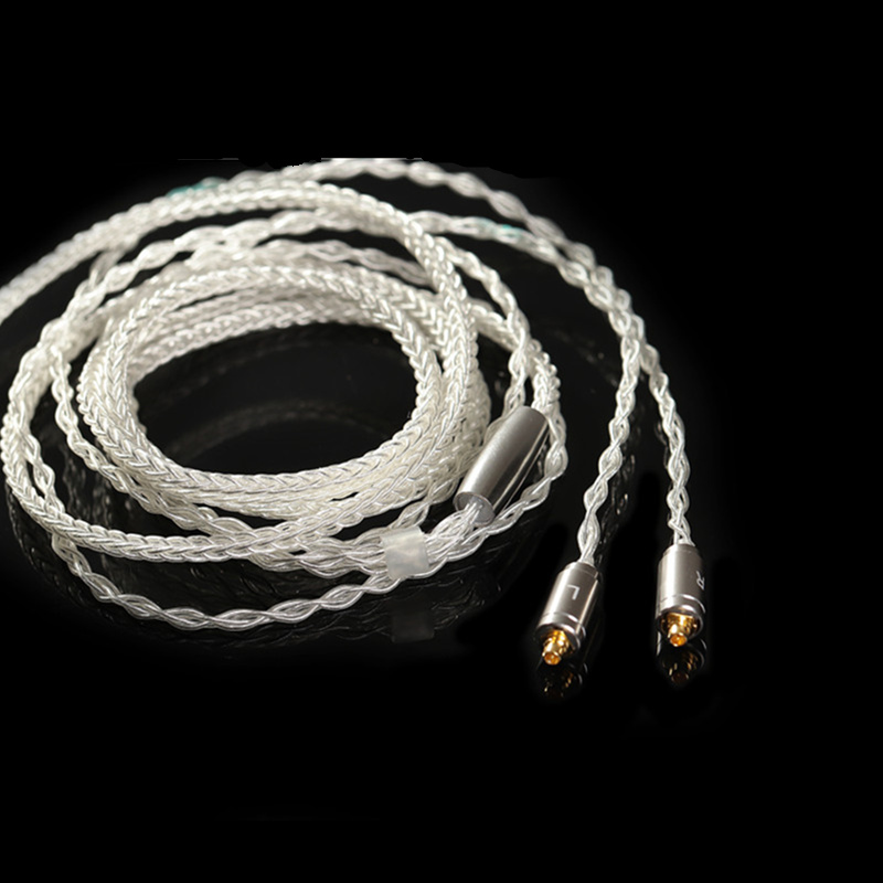 BGVP 2.5mm Crystal Silver Plated Balancing Cable Earphone Audio Player Cable Metal MMCX Upgrade 8 Strand Balanced Speaker Cable