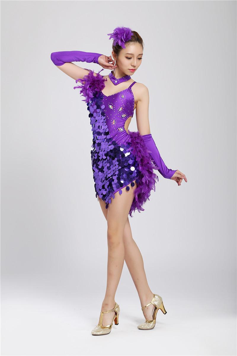 Online Obtener barato Vestido De Plumas De Color Púrpura ...