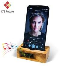 Громкий динамик для мобильного телефона, динамик для Iphone, samsung, sony, деревянный держатель, усилитель звука, бамбуковый кронштейн, деревянная настольная подставка, поддержка