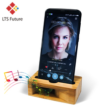 Mobile Phone Loudspeaker Holder Bamboo Sound Amplifier Speaker For iPhone Samsung Sony 3 6inch Wooden Holders Wood Desktop Stand