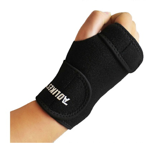 Removable Adjust Wristband Steel Brace Wrist Support Splint Fractures Carpal Tunnel Sport Sprain Mouse Hand Wristband right