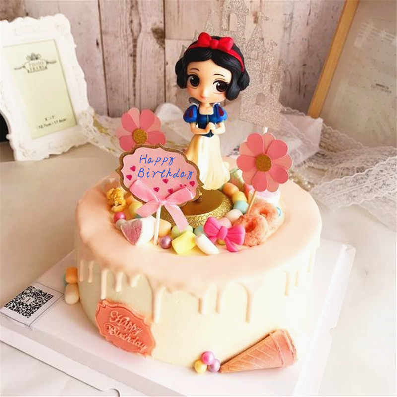 Astonishing Little Princess Mermaid Belle Cinderella Snow White Cake Toppers Funny Birthday Cards Online Overcheapnameinfo