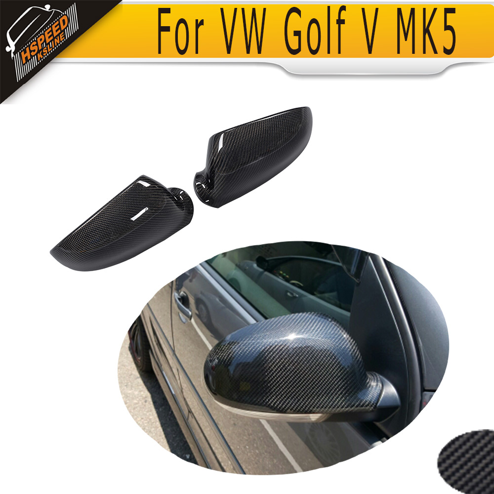 Carbon Fiber car side mirror covers for VW Golf 5 2006-2009 Fit for R32 GTI Standard 2014 2015 2016 vw golf 7 replacement carbon fiber door side wing mirror covers for volkswagen golf mk7 gti golf7 r car tuning