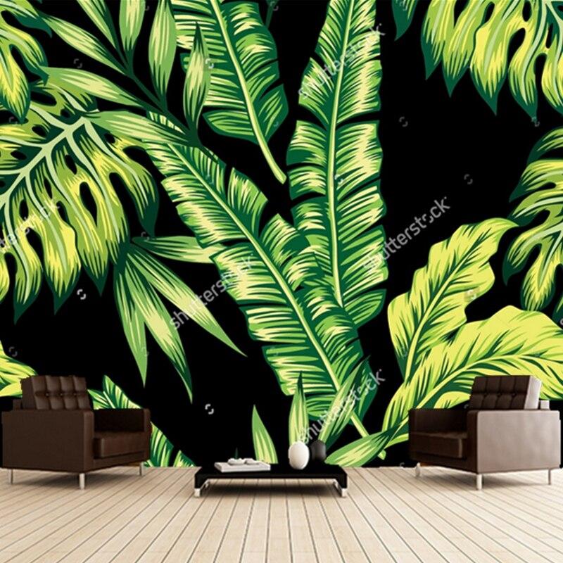 Aliexpresscom Buy Custom retro wallpaperbanana leaves  : Custom retro wallpaper banana leaves 3D landscape murals for the living room bedroom restaurant background wall from www.aliexpress.com size 800 x 800 jpeg 498kB