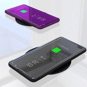 Image 3 - Mirror Flip Smart Case for Redmi K20 Pro 5 Plus 6 6A 4X Note 5A 3 4X 5 6 Pro Y1 Lite S2 Y2 Clear view case for Xiaomi 9T Pro 5C