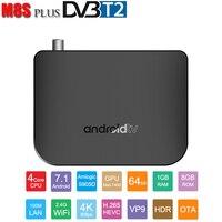M8S DVB T2 TV Box Dual Mode Set Top Box Android 7.1 Amlogic S905D 1GB 8GB Android TV Box Dvb T2 Smart TV BOX H.265 4K Display