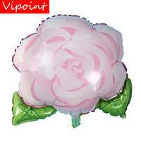 VIPOINT PARTY 50x54 cm rosa grün blume folie luftballons hochzeit event weihnachten halloween festival geburtstag party HY-308
