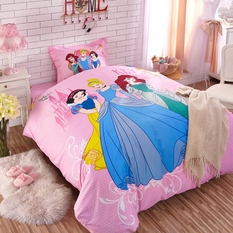 Girl Princess Snow White 100 Cotton Bedding Set Kid