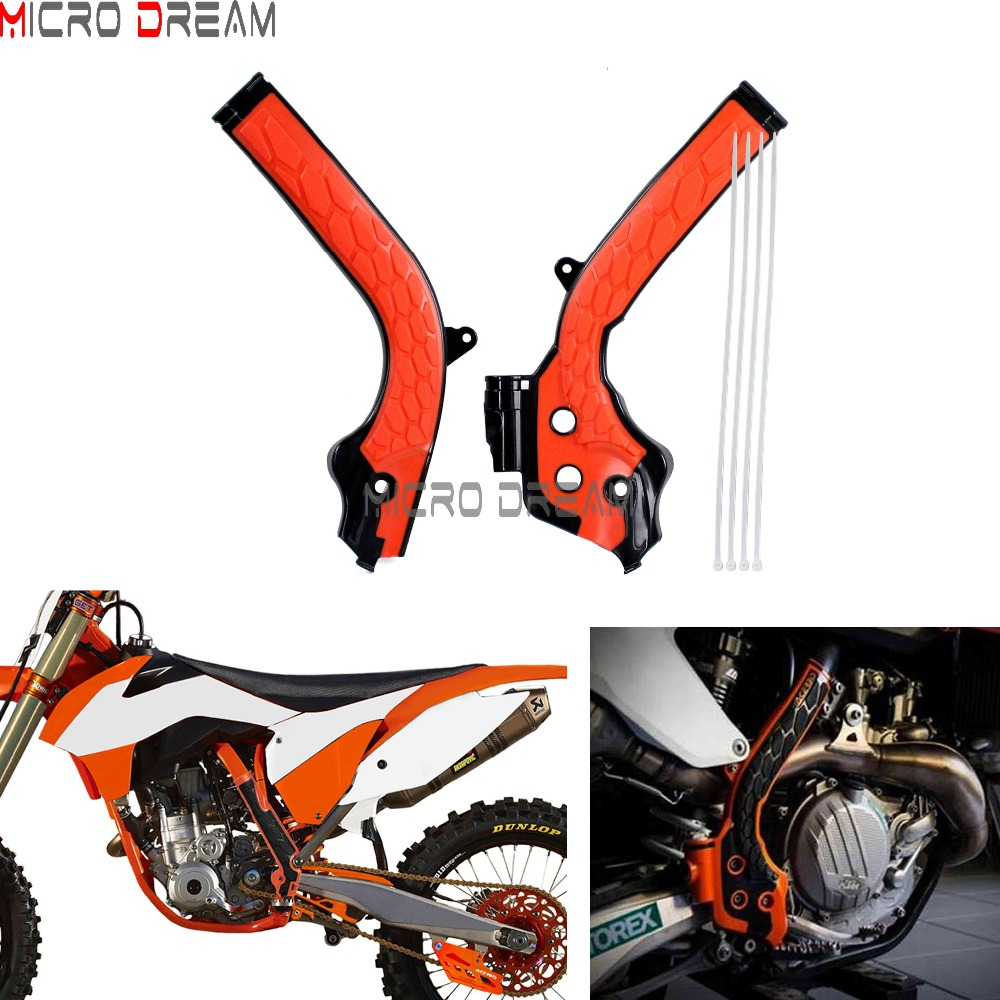 Acerbis X-Grip Frame Guards Black//16 KTM Orange for KTM 350 XC-F 2016-2018