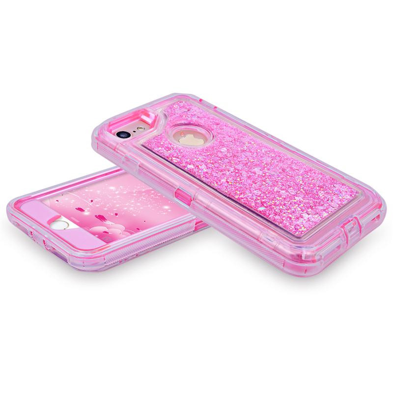 Luxury-3-in1-TPU-Bling-Clear-Quicksand-Case-For-Iphone-6-6s-7-8-Plus-X (1)