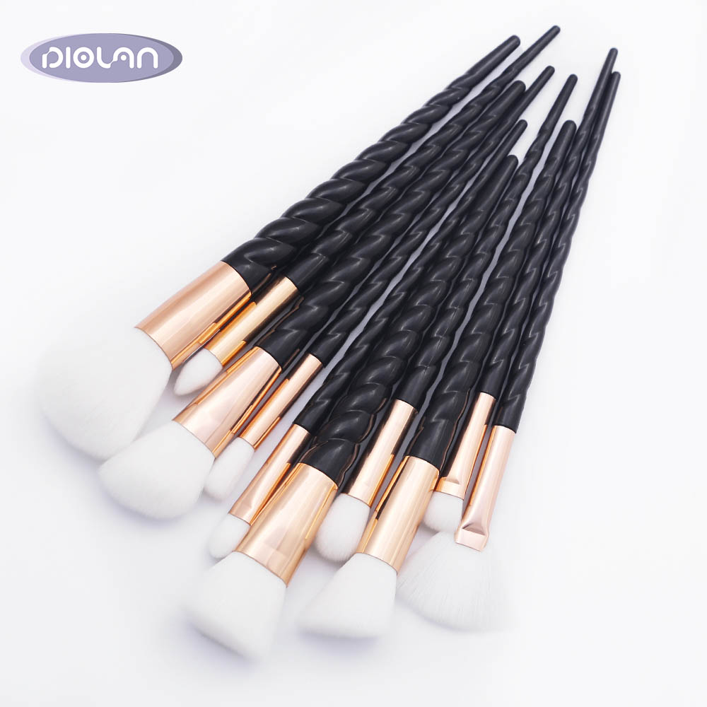 DIOLAN 10pcs Microbrashes Unicorn Thread Makeup Brushes Set Eyelash Eyebrow` Eyeshadow Brush High Quality Cosmetic  Kits Tools Кисть