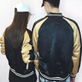2016 New Fashion Jacket Men Trend Patchwork Slim Fit Couple Clothes Cotoon Black&Yellow Casual embroidery Jacket XXXL