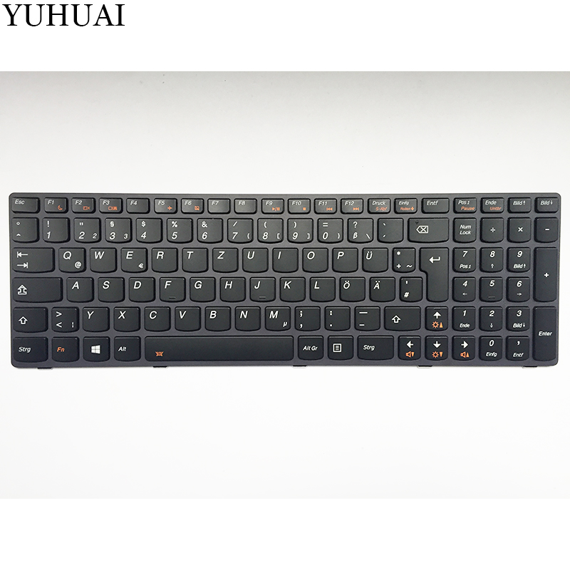 NEW german laptop keyboard for Lenovo IdeaPad Y580 Y580N Y580NT GR keyboard new for dell 1720 1721 vostro 1700 german gr laptop keyboard black nsk d820g 0kt273