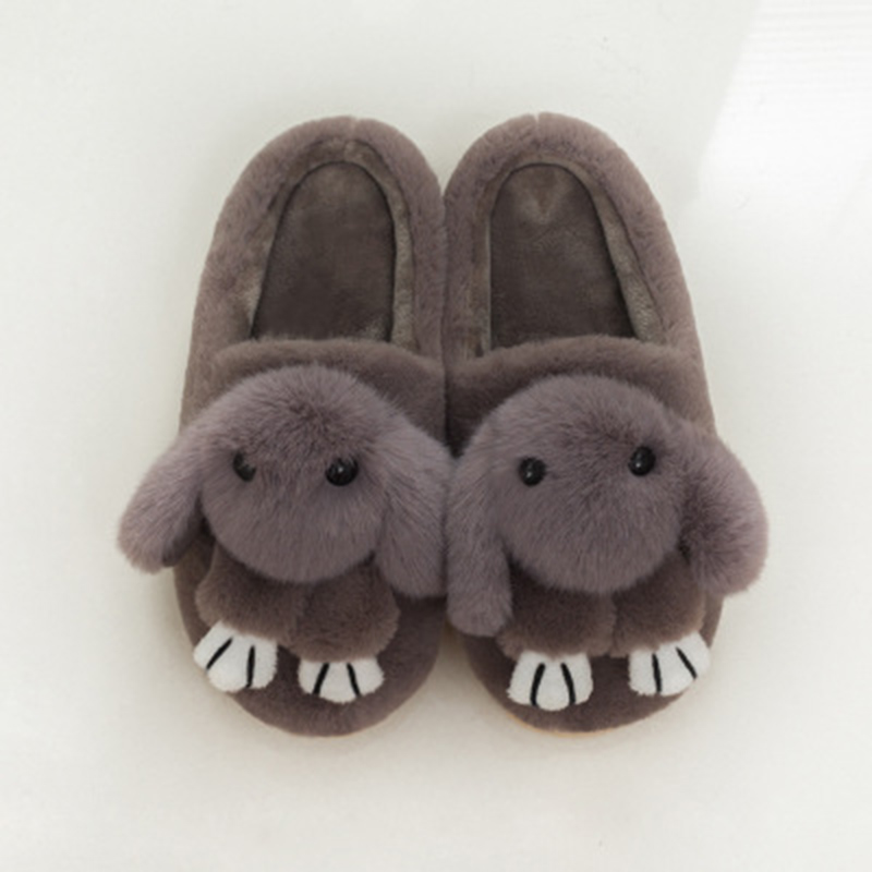 2017 Winter New Style Dead Rabbit Lovers Cloth Slippers Slip Non-slip Warm Cartoon Home Cotton Slippers Furry Shoes Daily Rabbit цена 2017