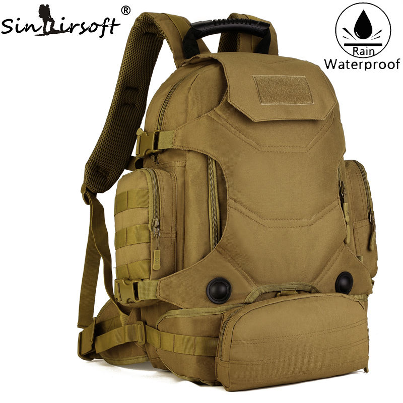New! SINAIRSOFT Men Army Waterproof 45L Military Hike Backpack Waist Combination Bags Large Capacity Shoulder backpack LY0085