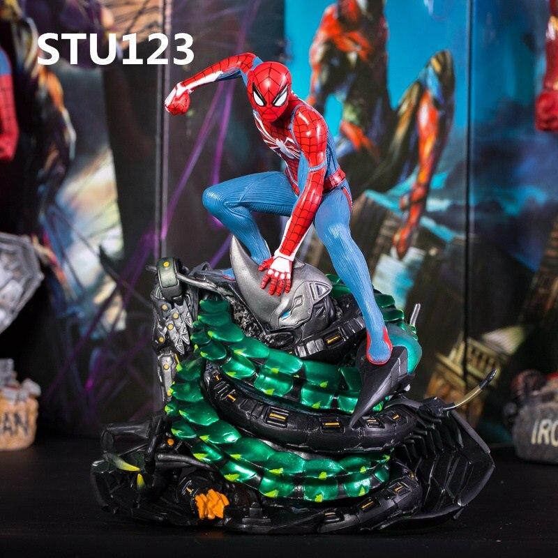 Nouveauté The Avengers PS4 jeu grand Spider-Man Statue Surprise super-héros modèle anniversaire cadeau Figure Statue jouet boîte N623