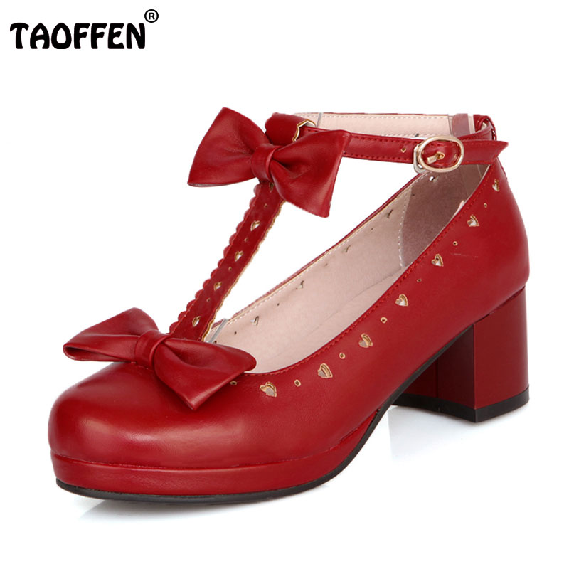 TAOFFEN free shipping high heel shoes women sexy dress footwear fashion lady spring pumps P11793 hot sale 32-43 2016 spring and summer free shipping red new fashion design shoes african women print rt 3
