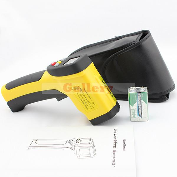 Good Quality Portable Xintest Ht-818 Handheld Double Laser Infrared Thermometer Digital Temperature Laser Infrared Thermometer handheld laser portable high quality indoor air quality detector page 9