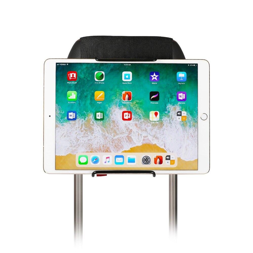 Soporte de montaje para Tablet PC Auto asiento trasero del coche reposacabezas soporte de montaje Universal para tableta 6-11 pulgadas para iPad Xiaomi Samsung